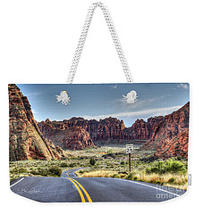 Slow Down In Snow Canyon Weekender Tote Bag
