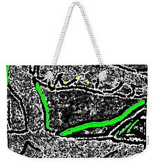 Weekender Tote Bag featuring the digital art Slow Down by Yshua The Painter