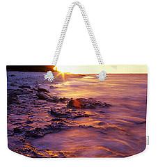 Slow Ocean Sunset Weekender Tote Bag