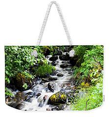 Small Alaskan Waterfall Weekender Tote Bag