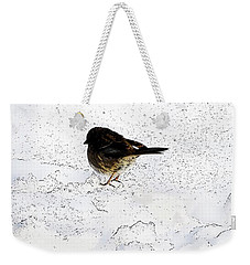 Small Bird On Snow Weekender Tote Bag