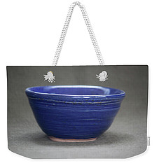 Small Blue Ceramic Bowl Weekender Tote Bag