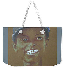 Small Boy, Big Grin -- Retro Portrait Of Black Boy Weekender Tote Bag