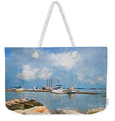 Small Dock With Boats Weekender Tote Bag