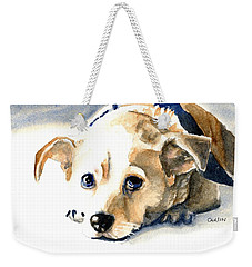 Small Dog With Tan Short Hair  Weekender Tote Bag