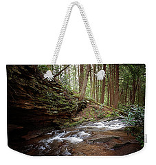 Small Falls Near Deep Creek Weekender Tote Bag