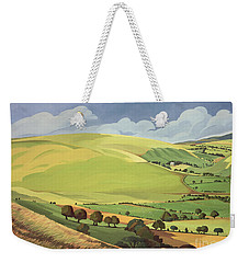 Small Green Valley Weekender Tote Bag