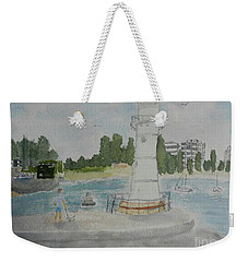 Small Lighthouse One Belmore Basin Weekender Tote Bag