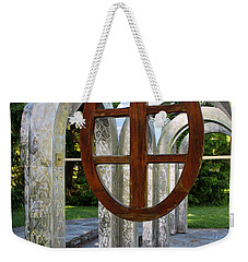 Weekender Tote Bag featuring the photograph Small Park With Arches by Michiale Schneider