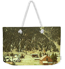 Small Rocky Mountain Town Weekender Tote Bag by Jill Battaglia