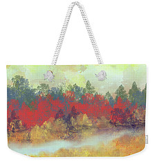 Weekender Tote Bag featuring the digital art Small Spring by Jessica Wright
