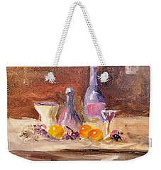 Small Still Life Weekender Tote Bag by Larry Hamilton