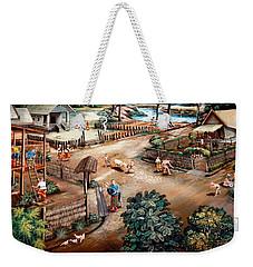 Small Town Community Weekender Tote Bag