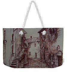 Small Town Drawing Weekender Tote Bag