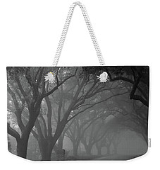 Small Town Foggy Morning Weekender Tote Bag by Deborah Smith