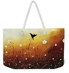 Weekender Tote Bag featuring the painting Small Treasure by Carmen Guedez