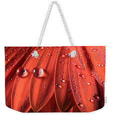 Small Water Drops Weekender Tote Bag by Angela Murdock