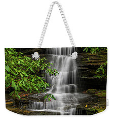 Small Waterfalls In The Forest. Weekender Tote Bag