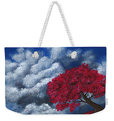 Weekender Tote Bag featuring the painting Small World by Anastasiya Malakhova