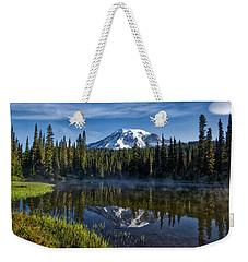 Misty Morning At Reflection Lake Weekender Tote Bag