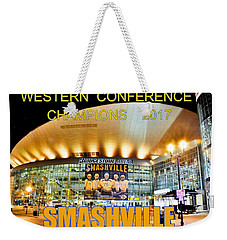 Weekender Tote Bag featuring the photograph Smashville Western Conference Champions 2017 by Lisa Wooten