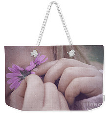 Weekender Tote Bag featuring the photograph Smell Life - V05t by Variance Collections