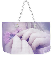 Weekender Tote Bag featuring the digital art Smell Life - V07t3 by Variance Collections