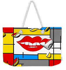 Weekender Tote Bag featuring the digital art Smile By Nico Bielow by Nico Bielow
