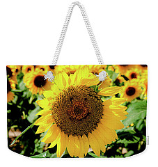 Weekender Tote Bag featuring the photograph Smile by Greg Fortier