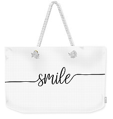 Smile Weekender Tote Bag by Jaime Friedman