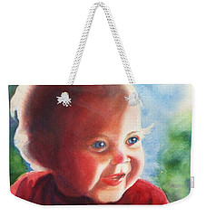 Weekender Tote Bag featuring the painting Smile by Marilyn Jacobson