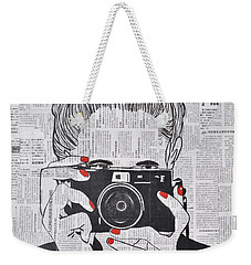 Smile Twice Weekender Tote Bag
