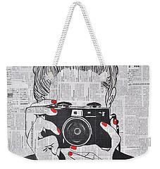 Smile Twice Weekender Tote Bag