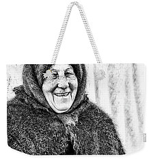 Weekender Tote Bag featuring the photograph Smiler by John Williams