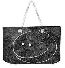 Smiley - Chalk N Eggs Weekender Tote Bag by Aimelle
