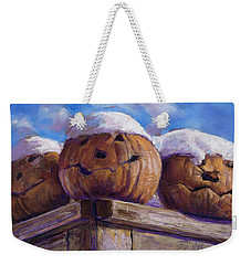 Weekender Tote Bag featuring the pastel Smilin Jacks by Billie Colson