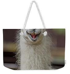 Smiling Alpaca Weekender Tote Bag