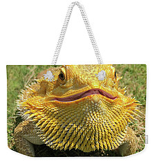 Smiling Bearded Dragon  Weekender Tote Bag by Susan Leggett