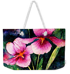 Smiling Iris Faces  Weekender Tote Bag