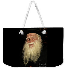 Weekender Tote Bag featuring the photograph Smiling Picture Of Rabbi Yehuda Zev Segal by Doc Braham