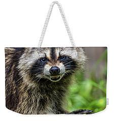 Smiling Raccoon Weekender Tote Bag