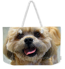 Smiling Shih Tzu Dog Weekender Tote Bag