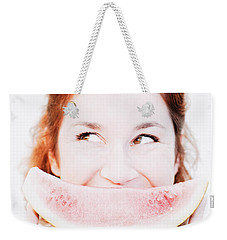 Smiling Summer Snack Weekender Tote Bag by Jorgo Photography - Wall Art Gallery