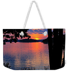 Smith Mountain Lake Sunset Weekender Tote Bag