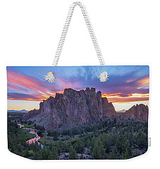 Weekender Tote Bag featuring the photograph Smith On Fire by Patricia Davidson