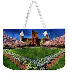 Spring Blooms In The Smithsonian Castle Garden Weekender Tote Bag by Shelley Neff