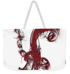 Smoke 01 Red Weekender Tote Bag