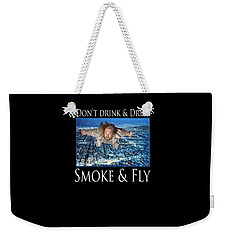 Smoke And Fly Weekender Tote Bag by Tom Roderick