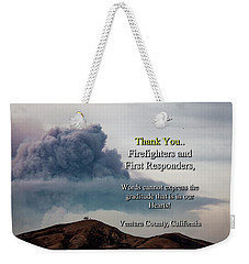 Smoke Cloud Over Two Trees Weekender Tote Bag