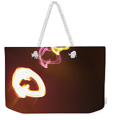 Weekender Tote Bag featuring the photograph Smoke In Colors by Ausra Huntington nee Paulauskaite